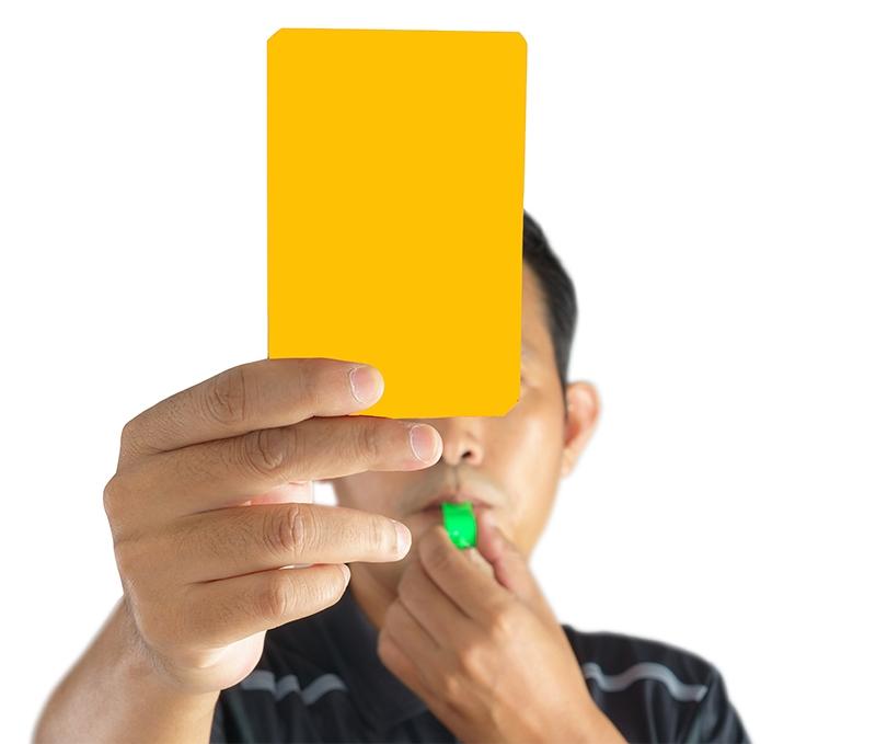Orange card soccer