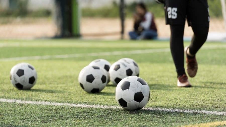 Training Ball on soccer field