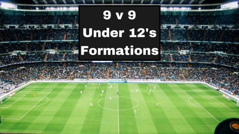 9 v 9 Under 12s Soccer Formations
