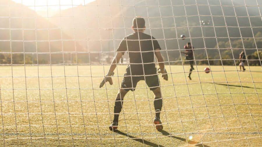 Goalkeeper in goal