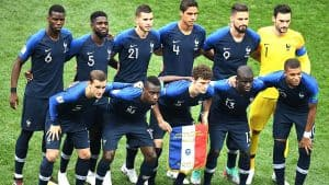 Soccer players numbers - pre match France World Cup