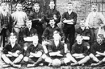 First Olympic soccer team Great Britain at Upton Park